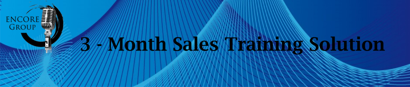 3 month sales training Solution
